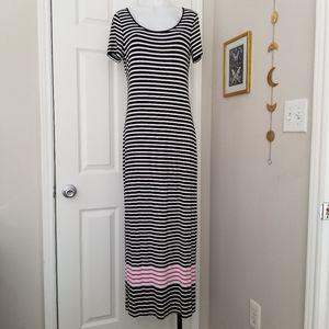 Calvin Klein Striped Maxi Dress Size 8 EUC